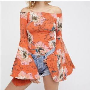 We the Free batwing off shoulder top
